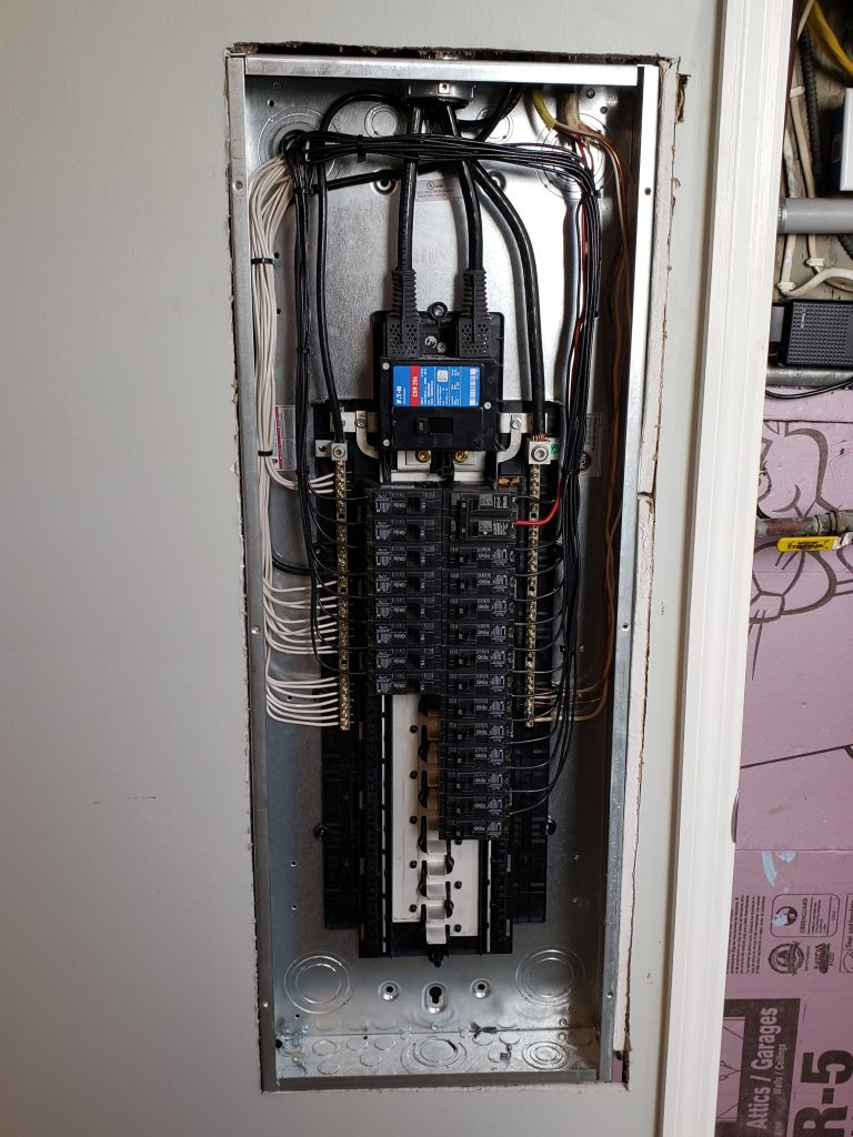 New home electrical panel